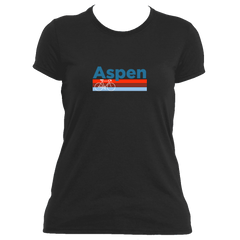 Aspen Retro Bike & Mountain Bike - Colorado Women's Moisture Wicking T-Shirt