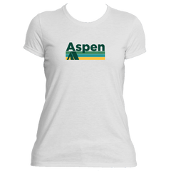 Aspen Retro Camping - Colorado Women's Moisture Wicking T-Shirt