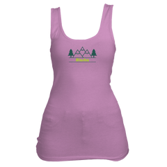 Alaska Mountain & Trees in Green - Women's Tank Top