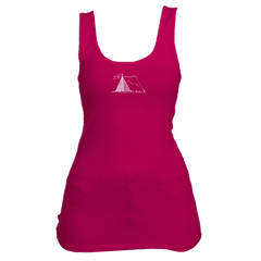 Vail, Colorado Camping Hand Drawn - Women's Tank Top