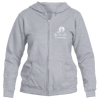 Breckenridge, Colorado Mountain & Sunset Hand Drawn - Women's Full-Zip Hooded Sweatshirt/Hoodie