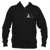 Aspen, Colorado Camping Hand Drawn - Men's Full-Zip Hooded Sweatshirt/Hoodie