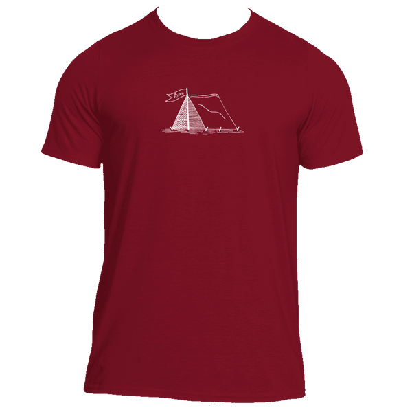 Aspen, Colorado Camping Hand Drawn - Men's Moisture Wicking T-Shirt