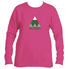 Alaska Minimal Mountain - Alaska Women's Fleece Crewneck Sweatshirt