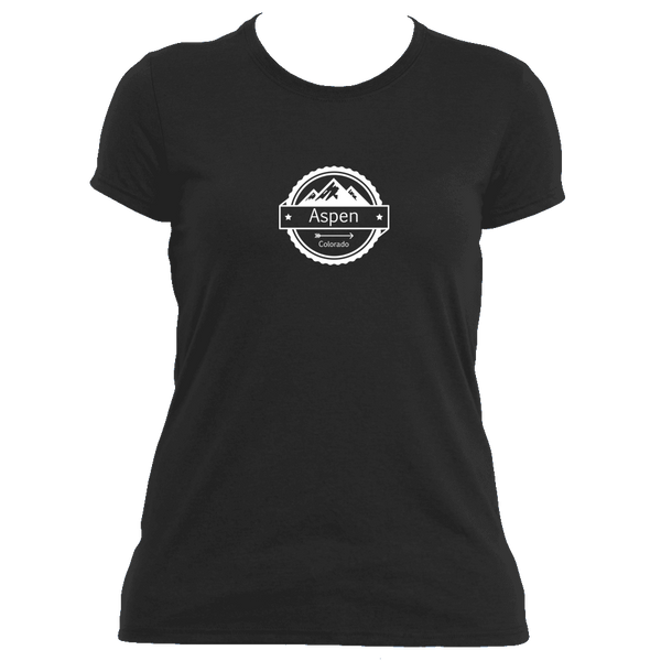 Aspen, Colorado Circle Three Peak - Women's Moisture Wicking T-Shirt