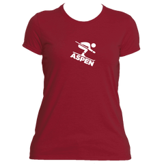 Aspen, Colorado Downhill Snow Skiing - Women's Moisture Wicking T-Shirt
