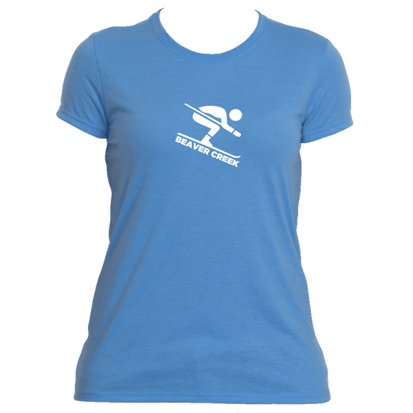 Beaver Creek, Colorado Downhill Snow Skiing - Women's Moisture Wicking T-Shirt