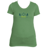 Alaska Mountain & Trees in Green -  Women's Tri-Blend T-Shirt