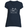 Breckenridge, Colorado Bicycle - Women's V-Neck T-Shirt
