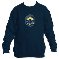 Whistler BC Yellow Mountain Sunrise - Canada Youth Fleece Crew Sweatshirt