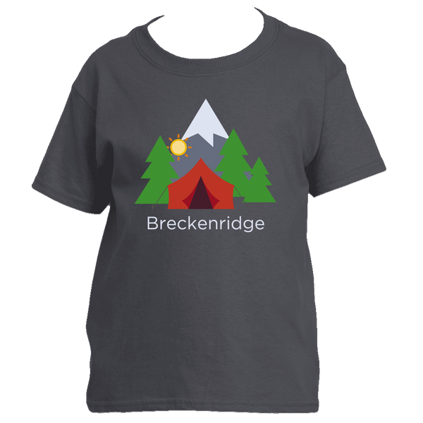 Breckenridge, Colorado Mountain Camping - Youth/Kid's T-Shirt