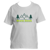 Beaver Creek, Colorado Mountain & Trees in Green - Youth/Kid's T-Shirt