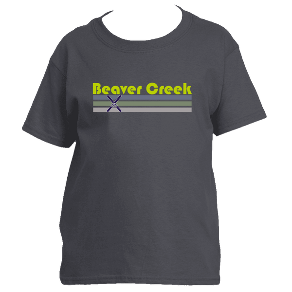 Beaver Creek, Colorado Vintage Cross Skis - Youth/Kid's T-Shirt