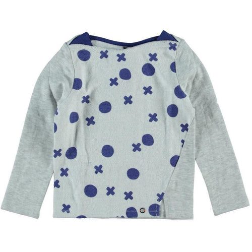 Sorry 4 The Mess - Girls Tic Tac Toe Inside Out Mollet Sweatershirt