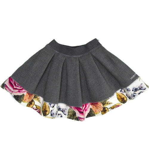 Skirt Folk (fuxia-ocra-multicolor flower) monnalisa neoprene 116713
