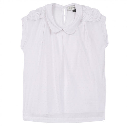 Jean Bourget - Girls Special Edition Short Sleeve Blouse With Slip