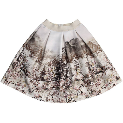 Monnalisa Jakioo - Girls Gonna Mountain Neoprene Skirt - Monnalisa - Skirts - www.kidinvogue.com