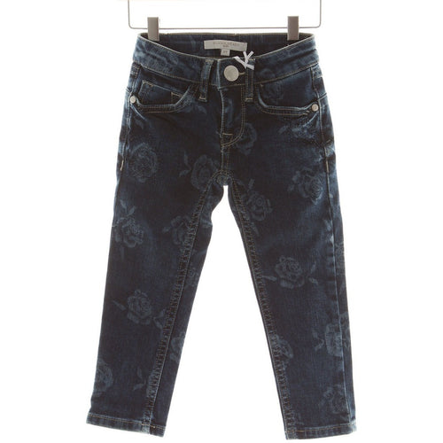 Silvian Heach Kids - Girls Roses Jeans, Denim - 2Y