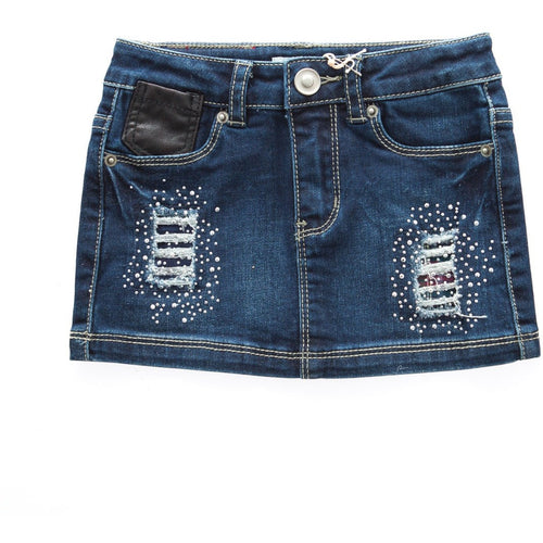 Silvian Heach - Baby Girls Shirley Mini Skirt, Denim