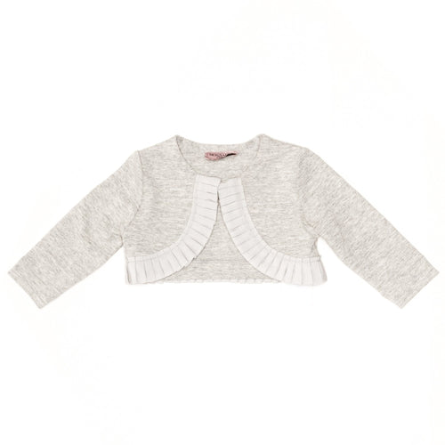 Monnalisa Bebe - Baby Girls Crop Mini Cardigan, Grey