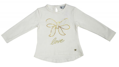 SHE.VER by Fun&Fun - Nursery Baby Girl Long Sleeve T-Shirt, White