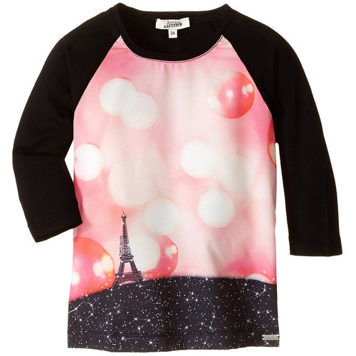 Junior Gaultier - Girl Pensee Dress, Eiffel Tower Print, Black - 3Y