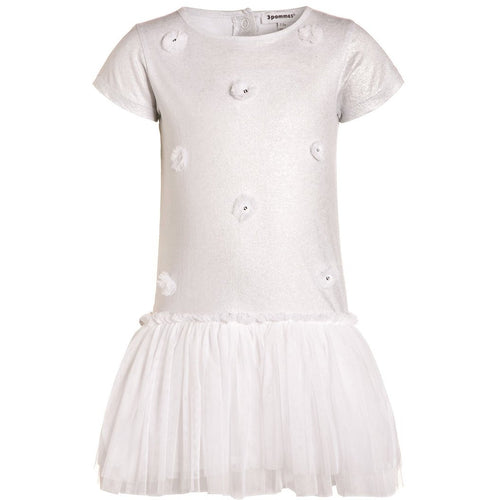 3pommes - Baby Girl T-Shirt Dress, Silver