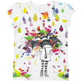 Cakewalk - Girl Kosy T-Shirt Under The Rain, White