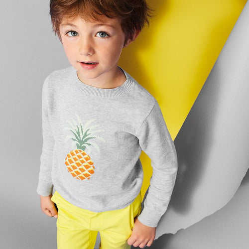 Jean Bourget - Boy Pineapple Sweater, Grey