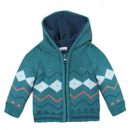 3pommes - Baby Boys Petit Monster Cardigan - 3pommes - Outerwear - soft fleece lining jacket for infant boy