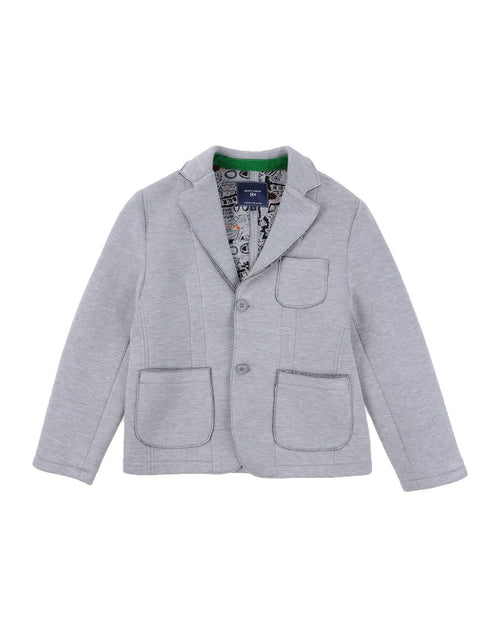 Silvian Heach Junior - Boys Neoprene Beard Jacket, Grey - 12Y
