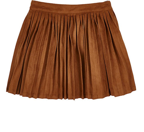 Billieblush - Girls Faux Suede Skirt, Tan