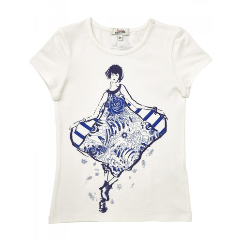 Junior Gaultier - Girls Short Sleeve Dancing Femme T-Shirt, White