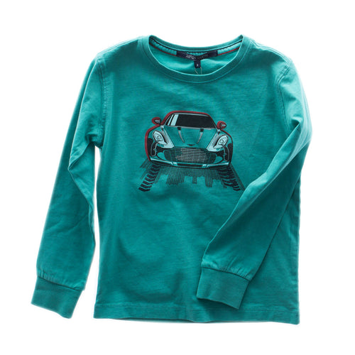 Aston Martin -  Boys Long Sleeve Heywood T-Shirt, Turquoise - 3Y