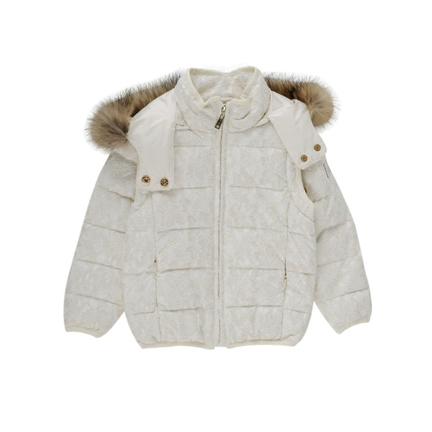 Silvian Heach - Girls Down Filled Lace Convertible Jacket - Silvian Heach - Outerwear - www.kidinvogue.com