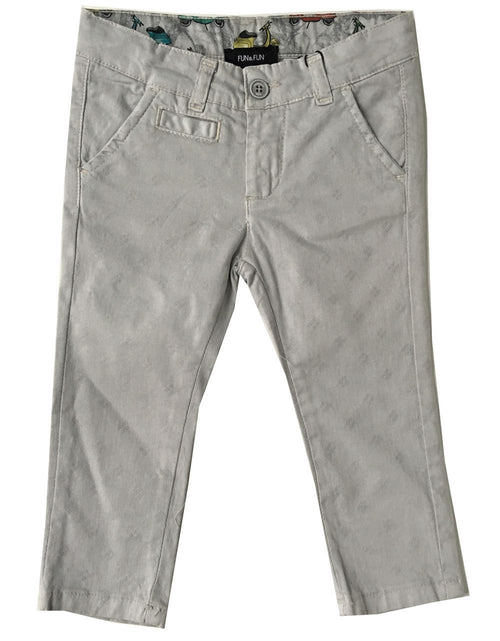 Fun&Fun -  Baby Boys Adjustable Waist Dress Pants, Light Grey