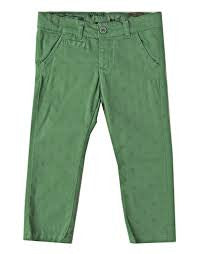 Fun & Fun - Baby Boys Textured Green Adjustable Waist Dress Pants, Green