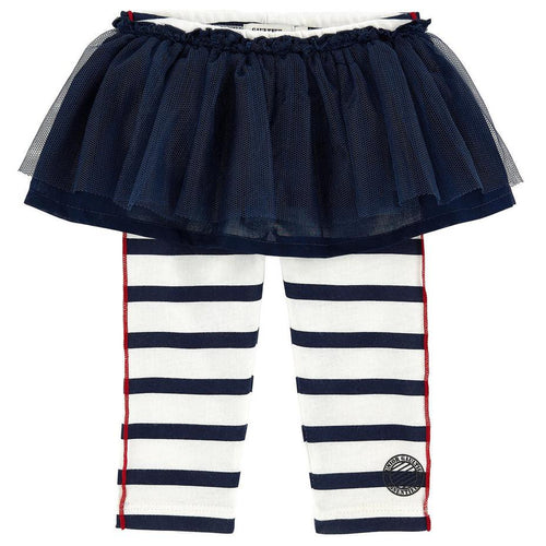 Junior Gaultier - Baby Striped Leggings with Tulle Skirt