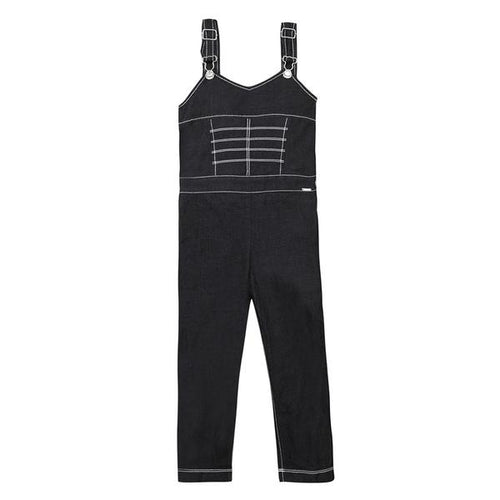 Junior Gaultier - Girl Black Denim Overalls