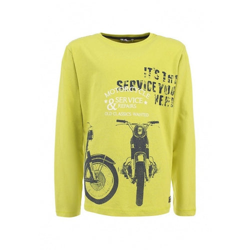 3pommes - Boy Biker Long Sleeve T-Shirt, Pistachio - 8Y