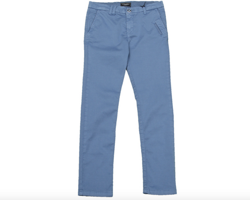 Aston Martin - Teen Boys Chino Slim Fit Trousers, Light Blue