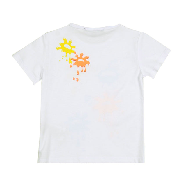 Aston Martin - Baby Splash Short Sleeve Tee, White - 6M