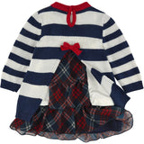 Monnalisa - Baby Girl 2 in 1 Viscose Knit And Cotton Jersey Dress - 12M