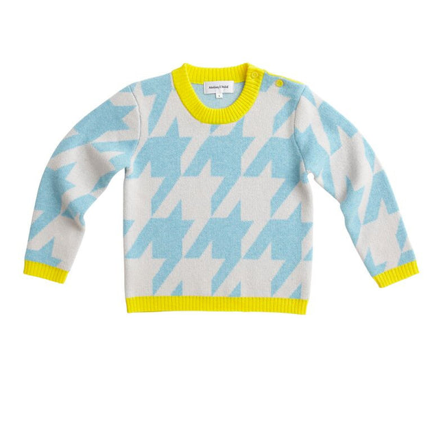 Atelier/Child - Boys Girls Cashmere Blend Sweater, Blue