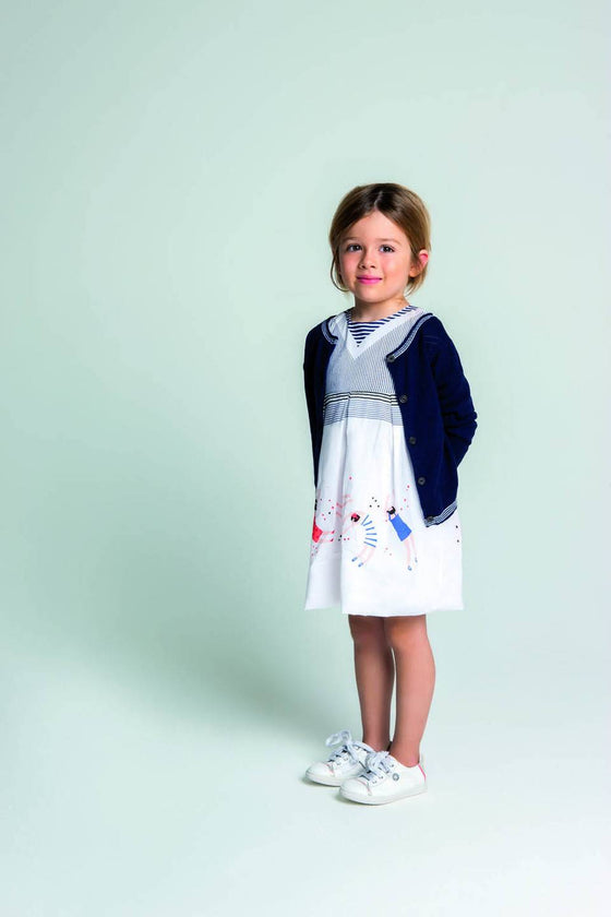 533c8115690 ... White Catimini - Girls City Retro Dress