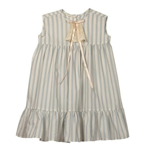 Blu Pony Vintage - Baby Girl Evelyn Dress, Beige - 18M