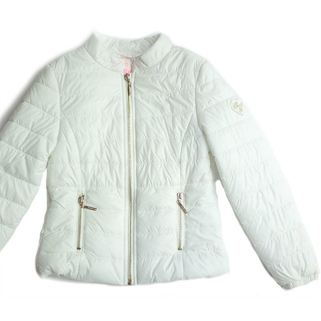 Gaudi - Girls White Jacket - Gaudi - Outerwear - www.kidinvogue.com