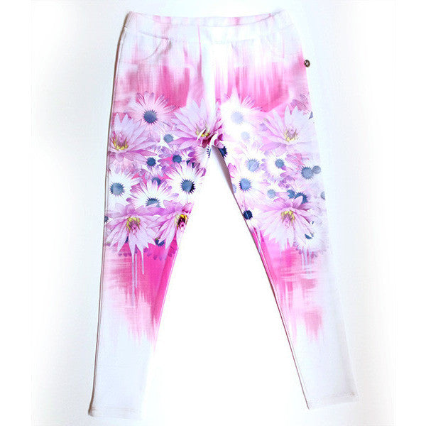 Gaudi Teen - Girls Flower Leggings - Gaudi - Leggings - www.kidinvogue.com