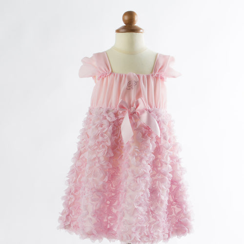 Blumarine - Baby Girls Chiffon Sleeveless Puff Dress, Pink