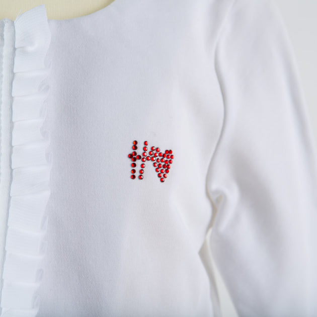 Silvian Heach Bebe - Baby Girls Jacket Peralia, White and Red